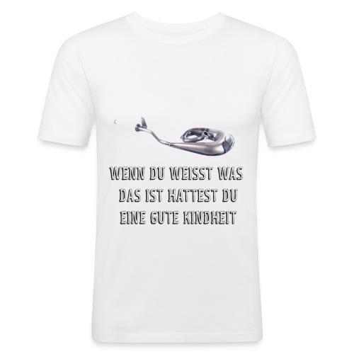 Schnecken Auspuff - Männer Slim Fit T-Shirt