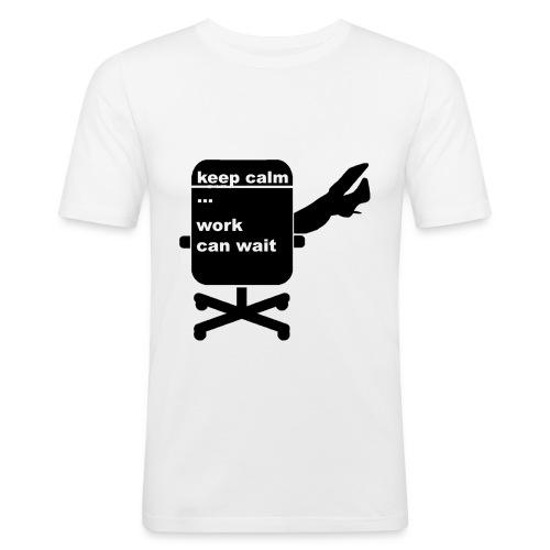 work_wait - Männer Slim Fit T-Shirt