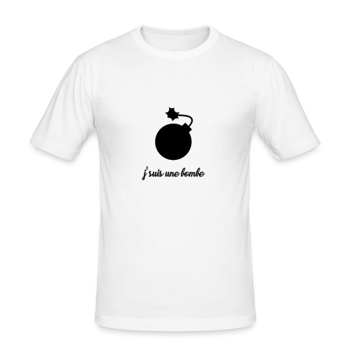 T-shirt J'suis une bombe - T-shirt près du corps Homme