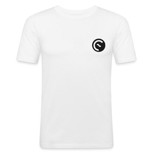 Eisbach Callin´ Logo Schwarz - Männer Slim Fit T-Shirt