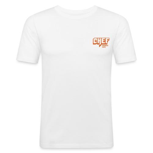 T-Shirts mit ORCA CHEF Logo - Männer Slim Fit T-Shirt