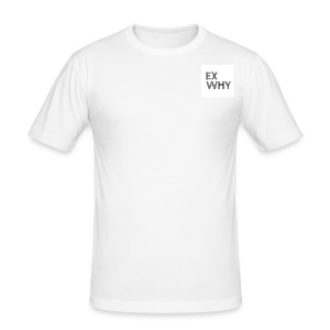 EX WHY logo - Men's Slim Fit T-Shirt