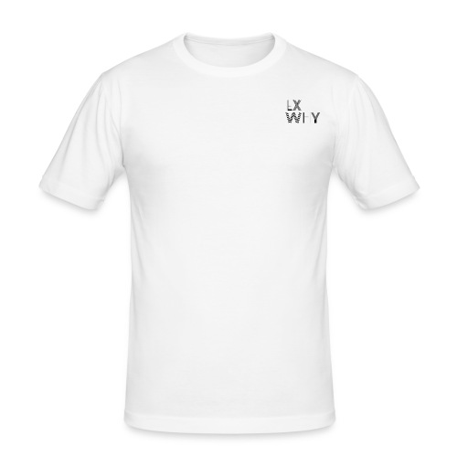 EX WHY logo - Men's Slim Fit T-Shirt