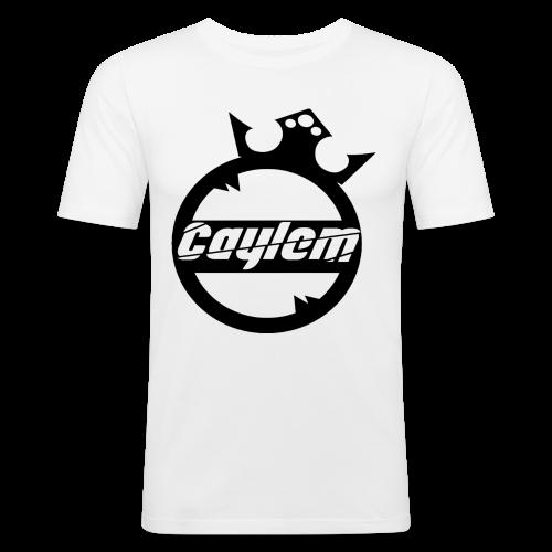Caylem Logo Schwarz - Männer Slim Fit T-Shirt