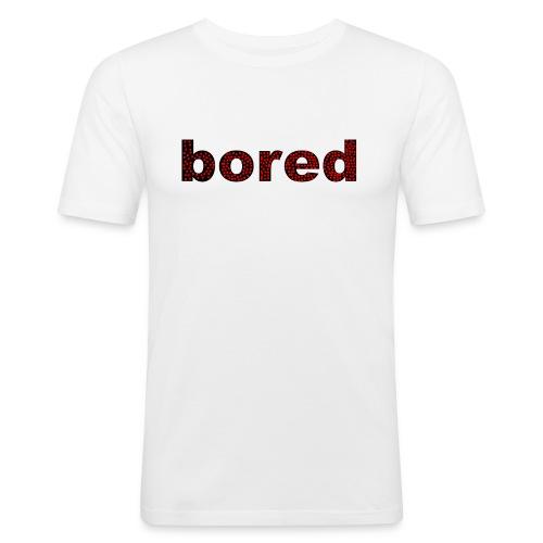 Bored Design rote Punkte auf Schwarz - Männer Slim Fit T-Shirt