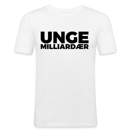 unge-mill-logo-svart - Slim Fit T-skjorte for menn