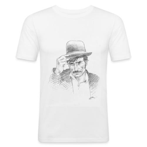 b129 - T-shirt près du corps Homme
