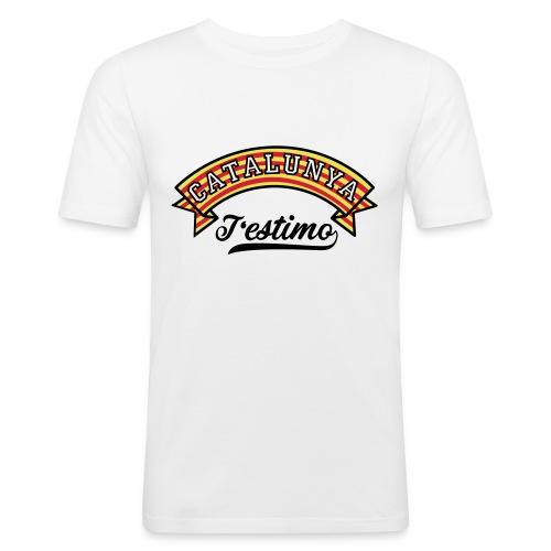Samarretes Catalunya - Catalunya T'estimo - Camiseta ajustada hombre