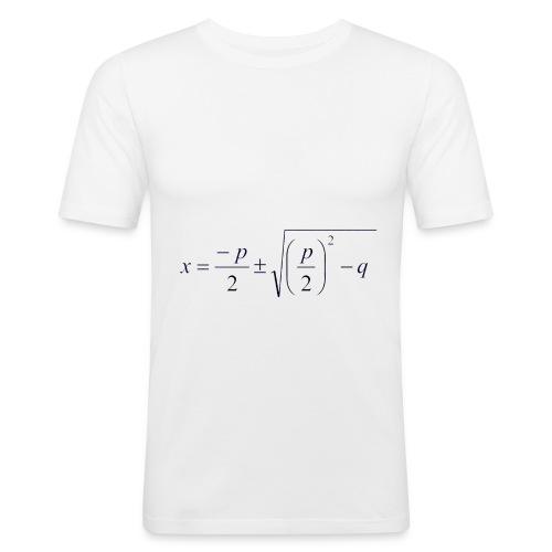 pq-Formel - Männer Slim Fit T-Shirt