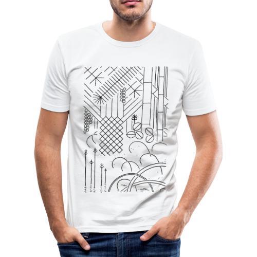 Jungle - Männer Slim Fit T-Shirt