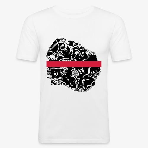 Schwarz und Weiß - Männer Slim Fit T-Shirt