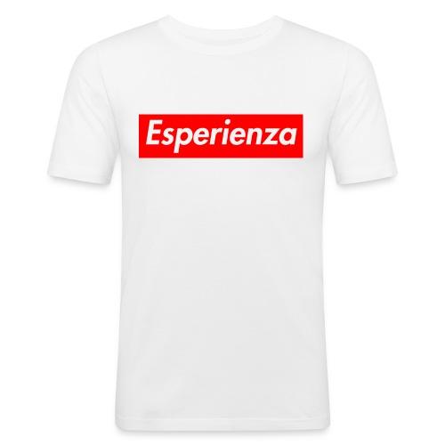 Esperienza logo box - Maglietta aderente da uomo
