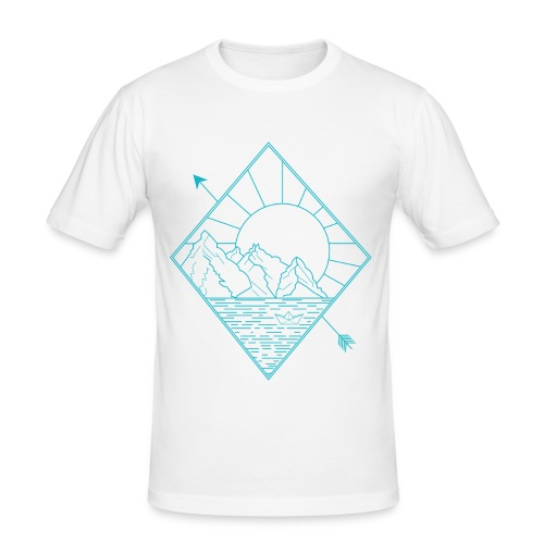 Alaska blue - Männer Slim Fit T-Shirt