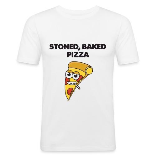 Stoned, Baked Pizza - Men's Slim Fit T-Shirt