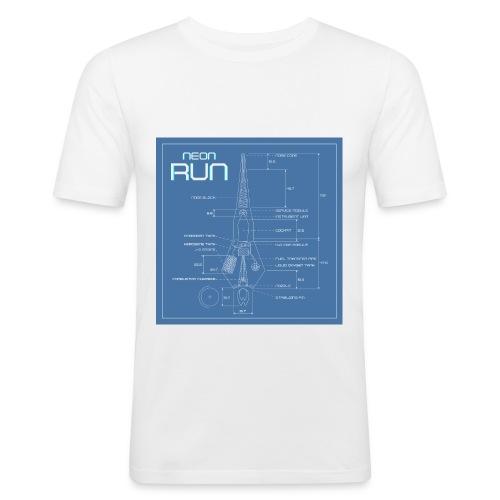 NeonRun blueprint - slim fit T-shirt