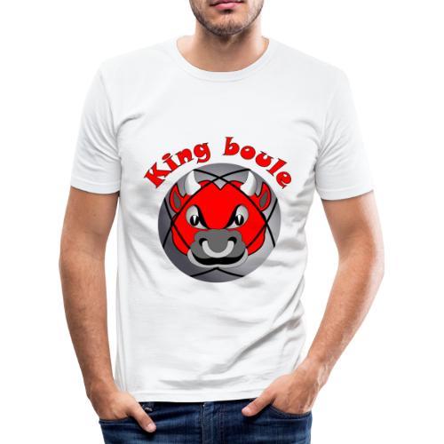 t shirt King boule roi pétanque tireur pointeur - T-shirt près du corps Homme