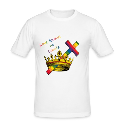 Love knows no limits KRONA - Pride - Slim Fit T-shirt herr