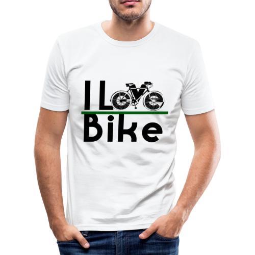 I love bike - Maglietta aderente da uomo