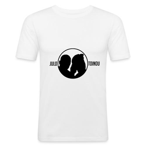 Julo et Toinou Logo BLANC - T-shirt près du corps Homme