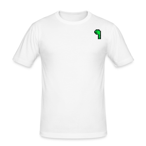 Pixel Logo - Männer Slim Fit T-Shirt