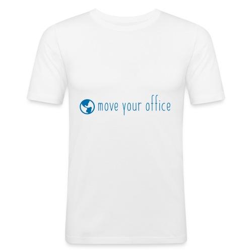 Das offizielle move your office Logo-Shirt - Männer Slim Fit T-Shirt