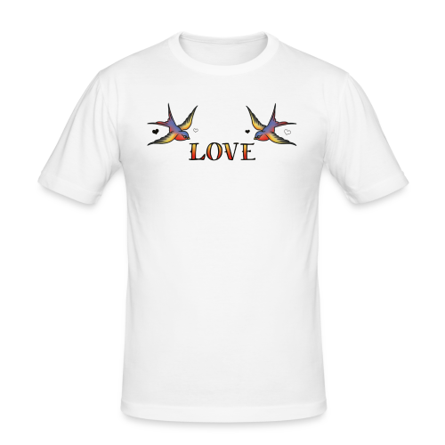 A Pair Of Swallows In Love - Men's Slim Fit T-Shirt