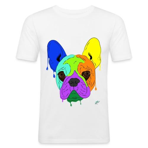 French Bulldog - Maglietta aderente da uomo