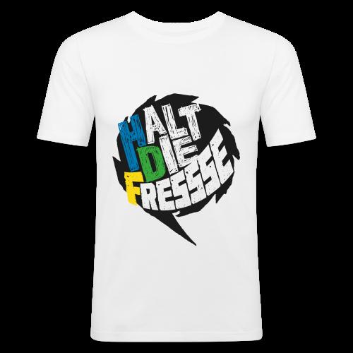 AGGRO.TV - Halt die Fresse T-Shirt - Männer Slim Fit T-Shirt