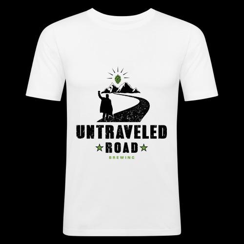 Untraveled Road Logo - schwarz/grün - Männer Slim Fit T-Shirt