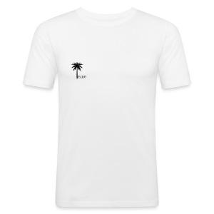 Palm - Black & White - Herre Slim Fit T-Shirt