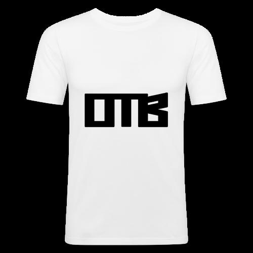 OTB Logo Black - Men's Slim Fit T-Shirt