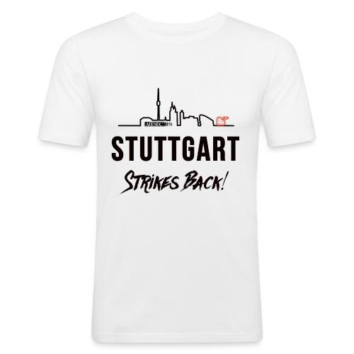 Stuttgart Strikes Back Skyline - Männer Slim Fit T-Shirt