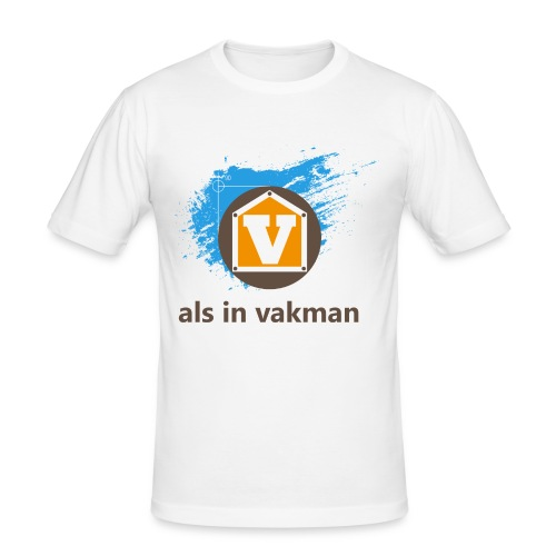 V als in Vakman - slim fit T-shirt