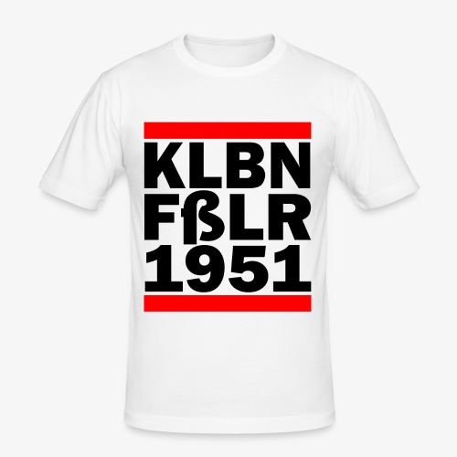 GUEST KLBNFßLER 1951 black - Männer Slim Fit T-Shirt
