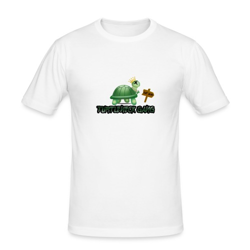 Turtle Neck Design 1 - Men's Slim Fit T-Shirt
