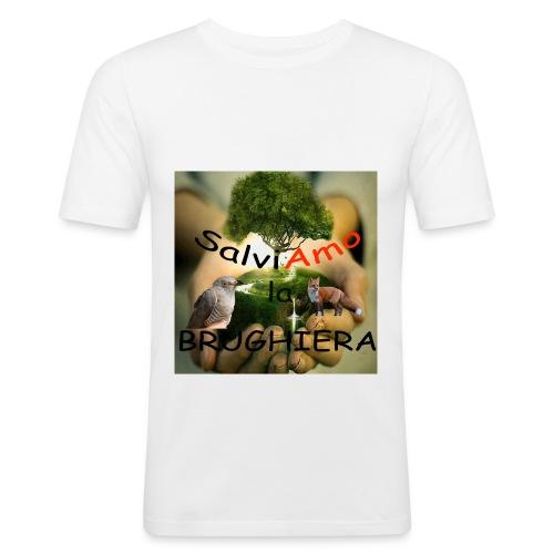 t-shirt SalviAmo (logo non originale) - Maglietta aderente da uomo