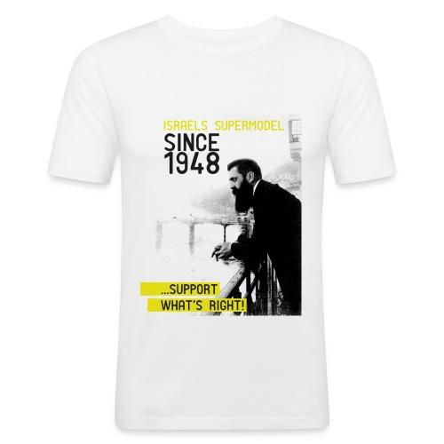Israel since 1948 | Theodor Herzl - Männer Slim Fit T-Shirt