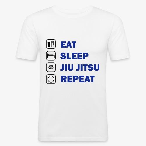 Eat, Sleep, Jiu Jitsu, Repeat - Men's Slim Fit T-Shirt