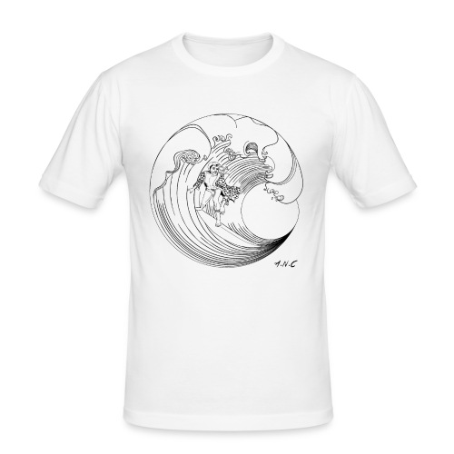 Living la vida Aloha BW - Männer Slim Fit T-Shirt