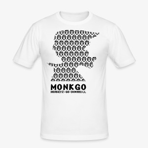 MonkGo Helmet Shirt - Männer Slim Fit T-Shirt
