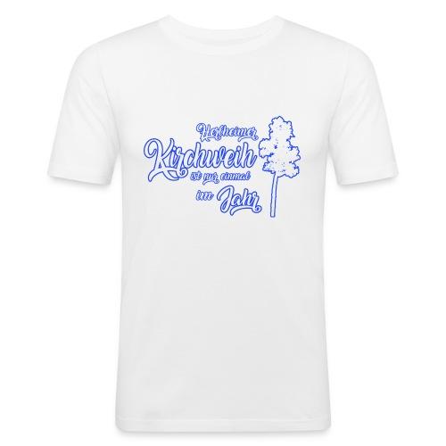 Kirchweih Shirt weiss Kopie - Männer Slim Fit T-Shirt