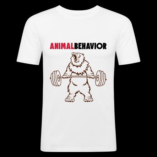 Animal behavior color oben - Männer Slim Fit T-Shirt