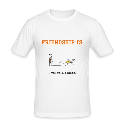 FRIENDSHIP - Männer Slim Fit T-Shirt