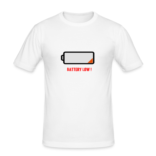 Battery Low - Männer Slim Fit T-Shirt
