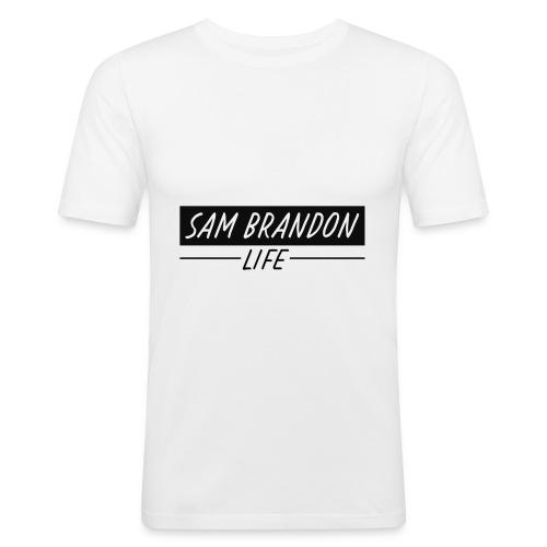SamBrandonMerchandise - SamBrandon Box Logo - Men's Slim Fit T-Shirt