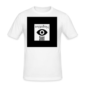 NegativeShirt - Männer Slim Fit T-Shirt