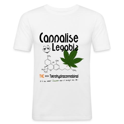 Cannalise Legabiz - it's all about cannabis - slim fit T-shirt