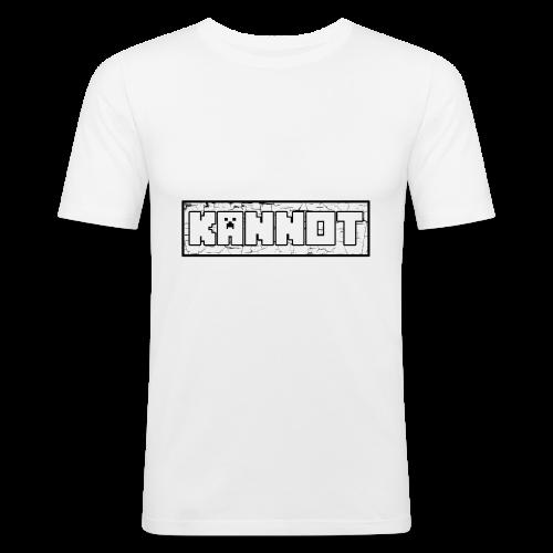 Kannot logo schwarz, weißer stoff - Männer Slim Fit T-Shirt