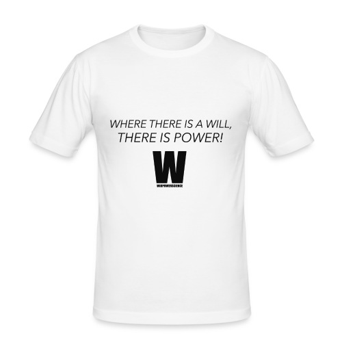 Willpower Science - Men's Slim Fit T-Shirt