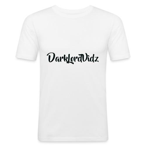 DarklordVidz Black Logo - Men's Slim Fit T-Shirt